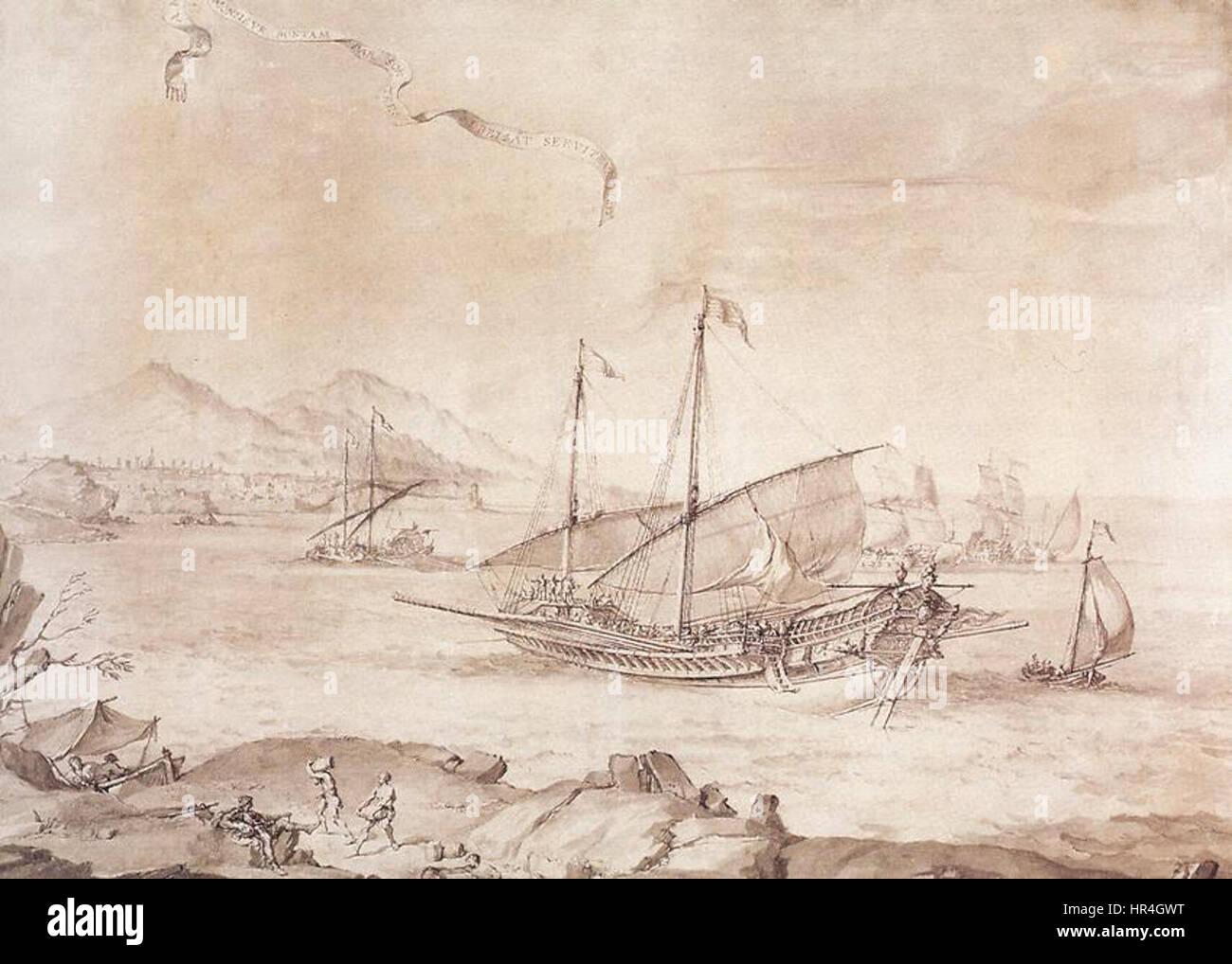 Pierre Puget - Ship at Marseille - WGA18475 - Stock Image
