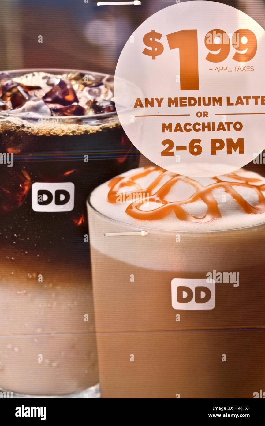 Dunkin' Donuts coffee sign Stock Photo: 134717031 - Alamy