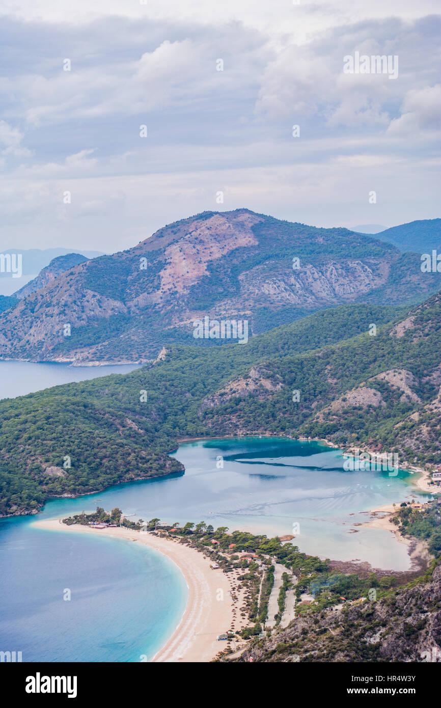 oludeniz blue lagoon view. oludeniz manzara - Stock Image