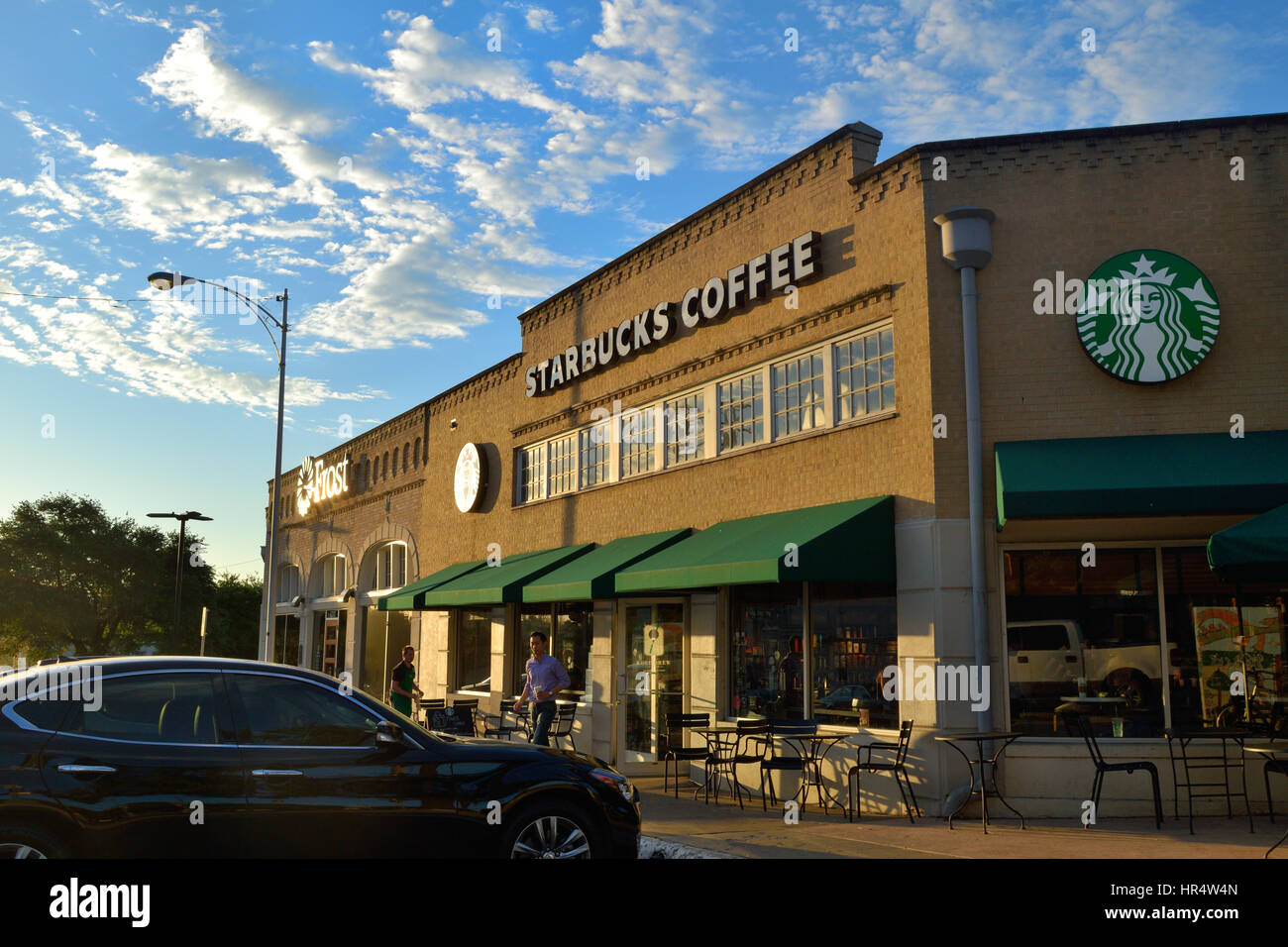 Starbucks Store in the Lakewood area of Dallas, Texas - Stock Image