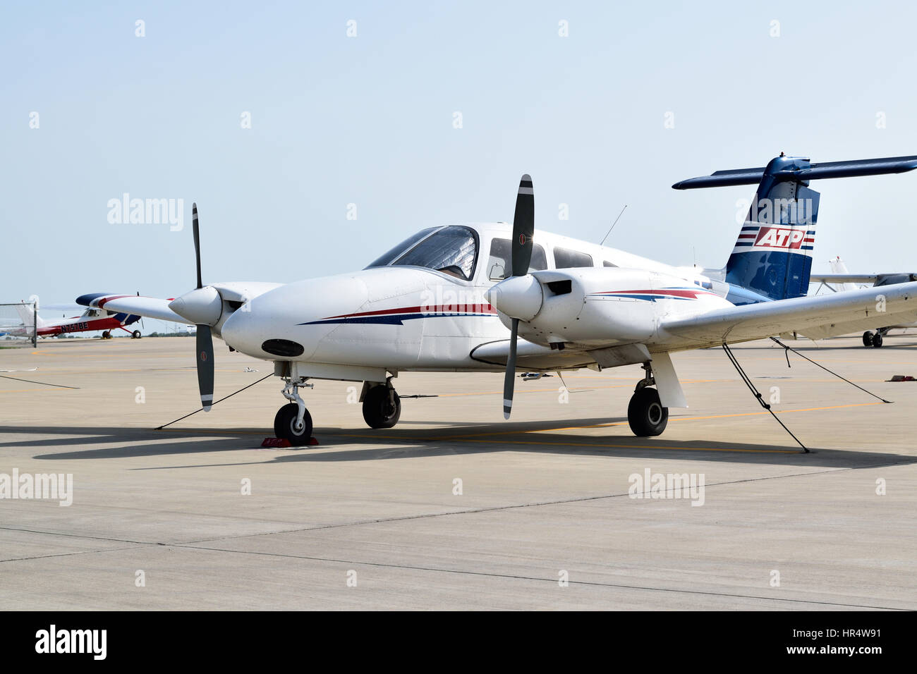 Small prop plane used for flight training at ATP flight
