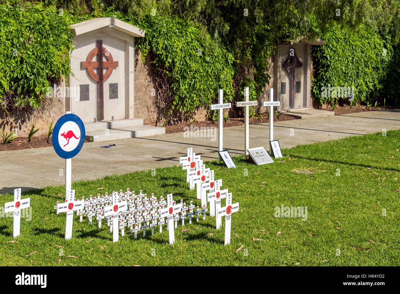 Adelaide, Australia - November 11, 2016:  Remembrance Day traditional ceremony in Adelaide, South Australia - Stock Image
