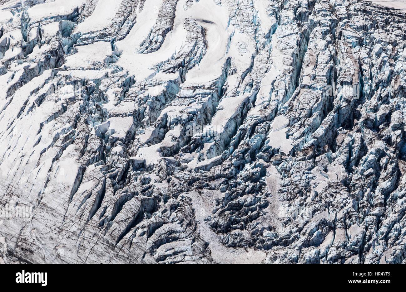 Winthrop Glacier Detail, Mt Rainier National Park, 2013 - Stock Image