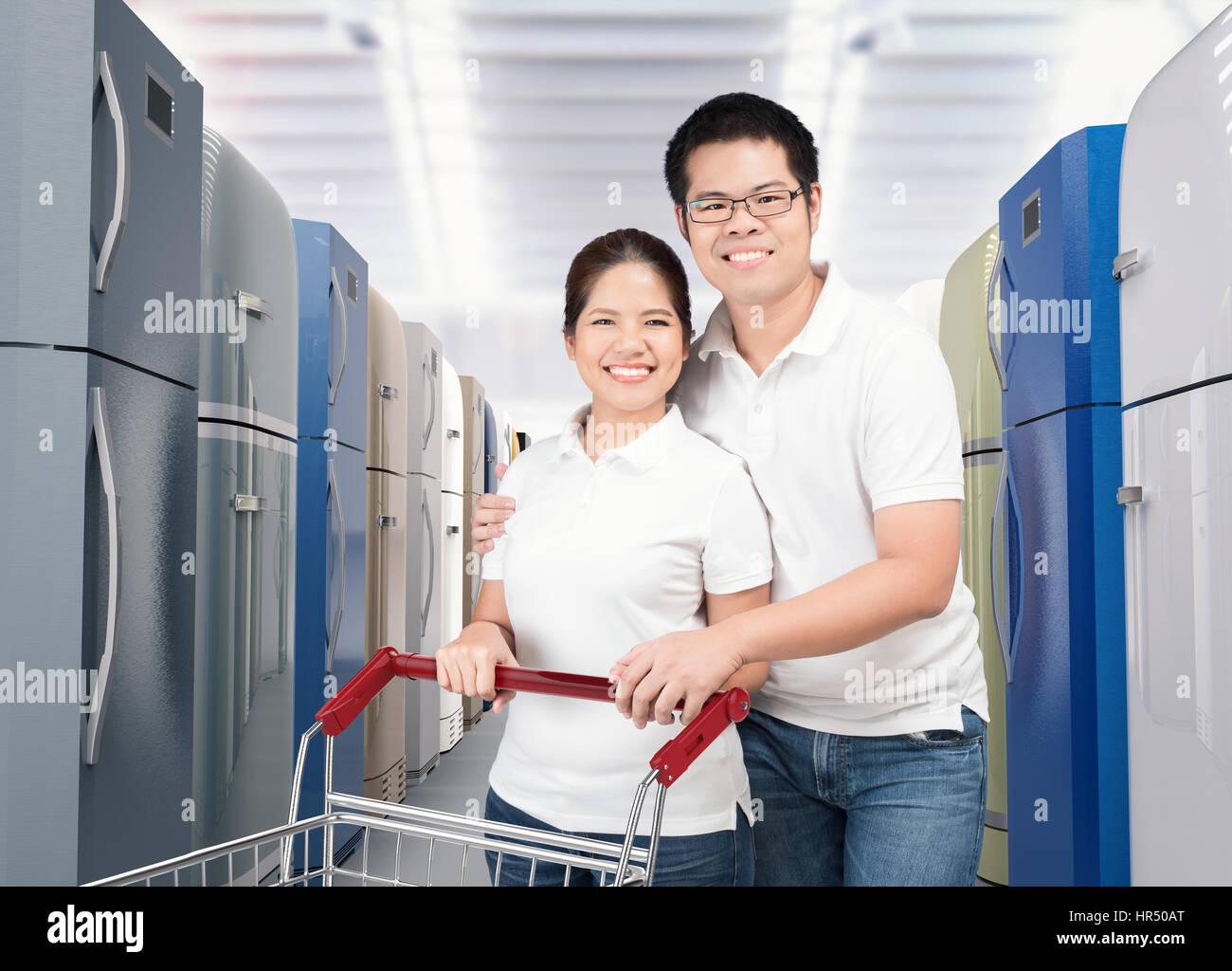 Couple Shopping Kitchen Appliances Stock Photos & Couple Shopping ...