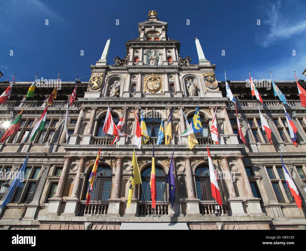 City Hall of Antwerp, Belgium. Stock Photo