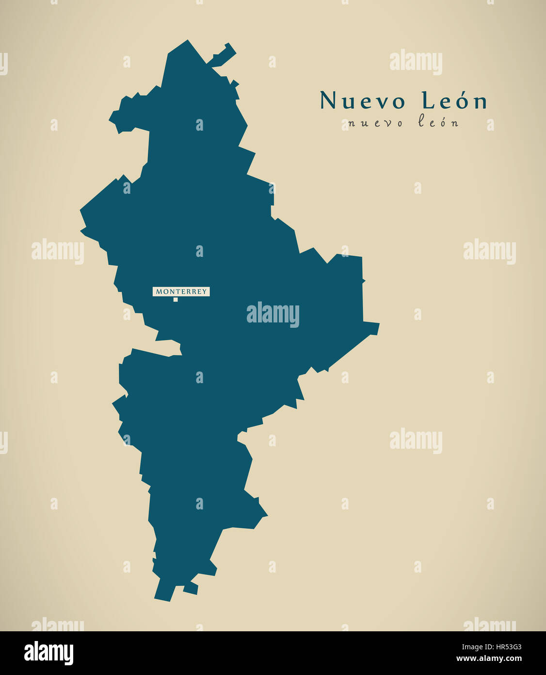 Nuevo leon map stock photos nuevo leon map stock images alamy modern map nuevo leon mexico mx illustration stock image publicscrutiny Image collections