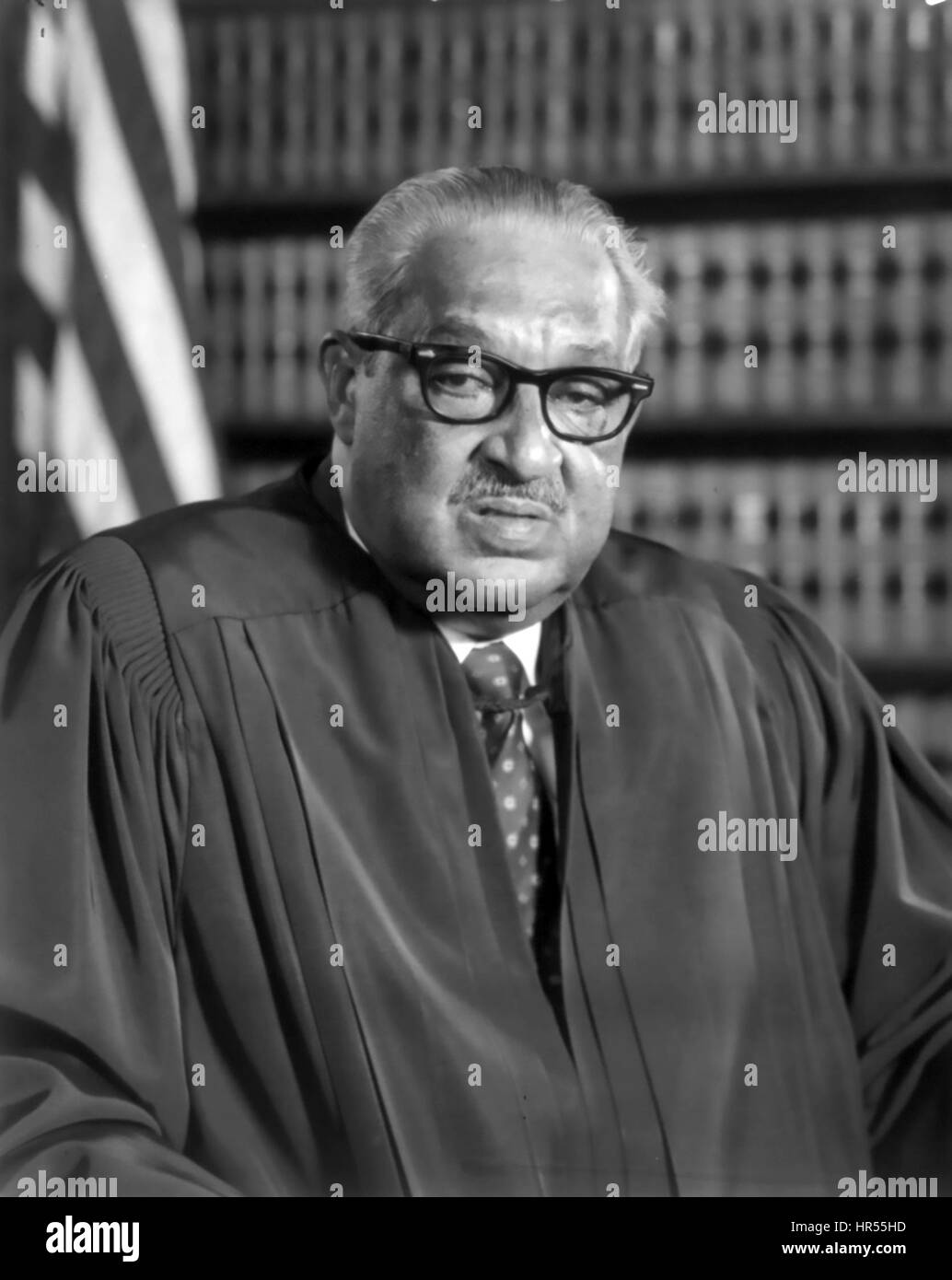 THURGOOD MARSHALL (1908-1993) as an  Associate Justice  of the US Supreme Court in 1976 - Stock Image