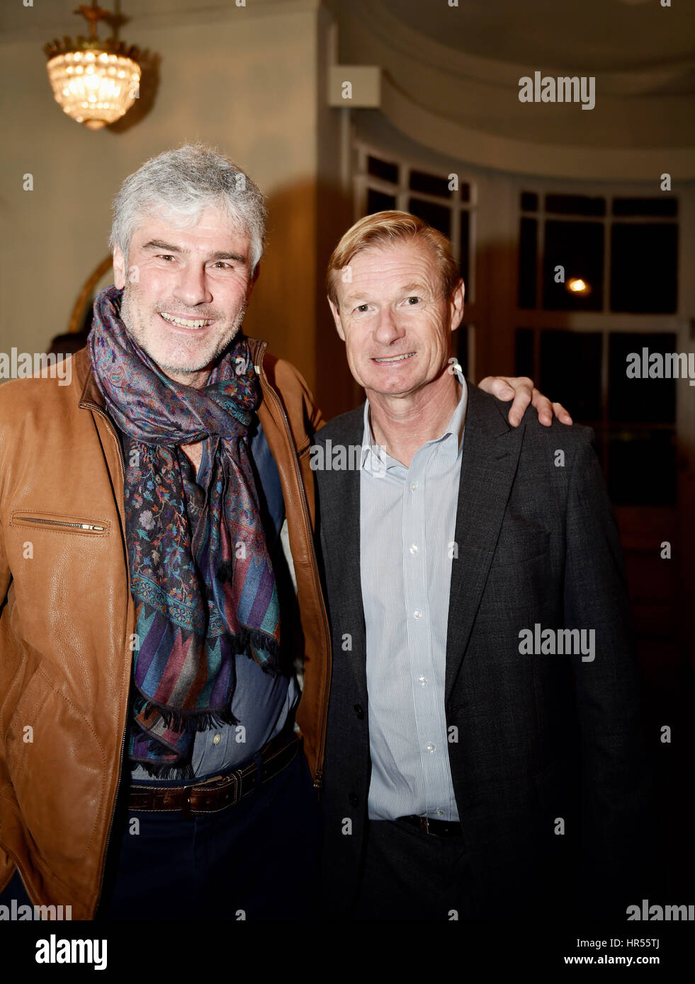 Brighton UK 20th February 2017 - Gary O'Reilly and Garry Neslon at The Goldstone Days 20 Years On celebration - Stock Image