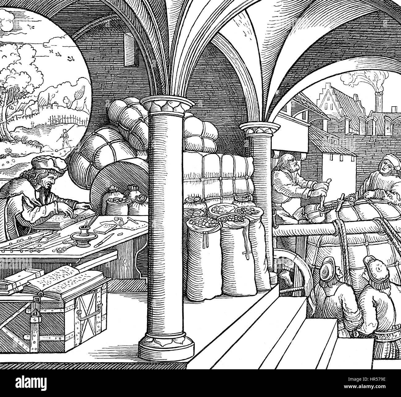 German department store, 16th century - Stock Image