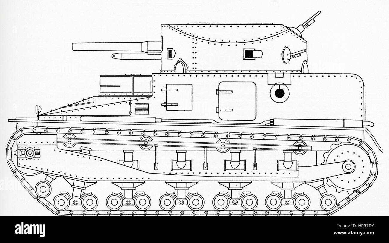 Martel's MKII version of the light one man tank.  Lieutenant General Sir Giffard Le Quesne Martel, 1889 –  1958. - Stock Image