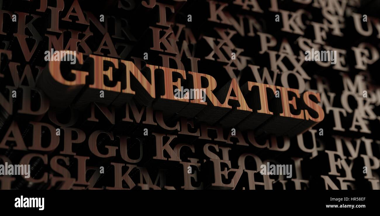 Generates - Wooden 3D rendered letters/message.  Can be used for an online banner ad or a print postcard. - Stock Image