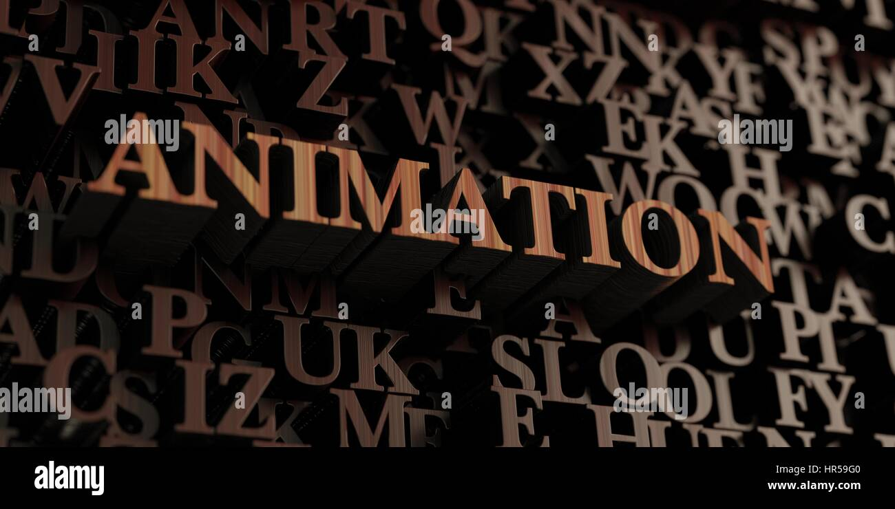 Animation - Wooden 3D rendered letters/message  Can be used for an