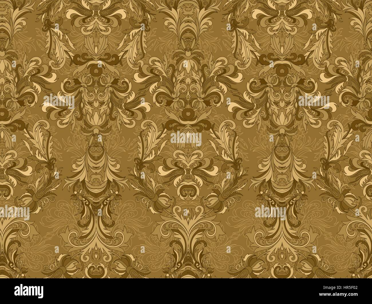 Luxury Floral Damask Wallpaper Seamless Pattern Background Vector Illustration