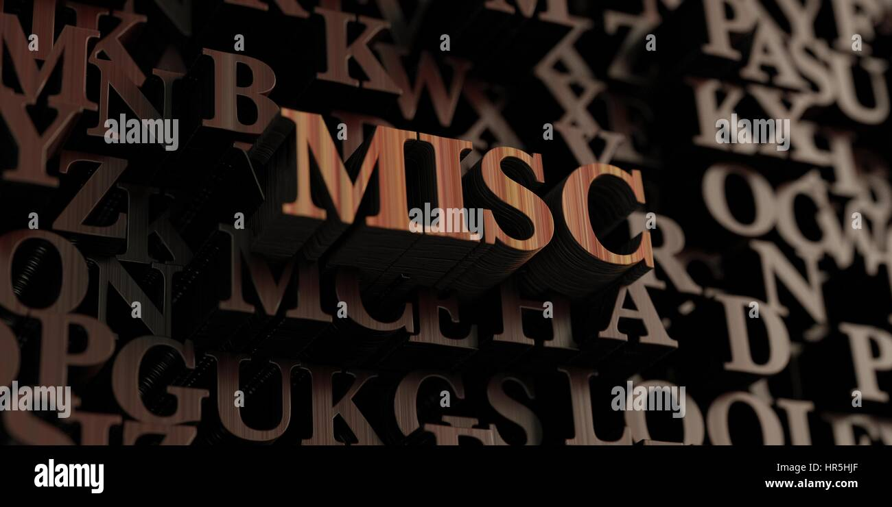 Misc - Wooden 3D rendered letters/message.  Can be used for an online banner ad or a print postcard. - Stock Image