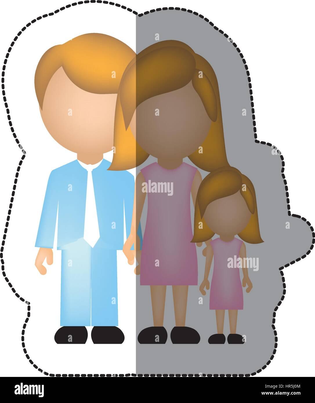 nuclear family cartoon stock vector images alamy