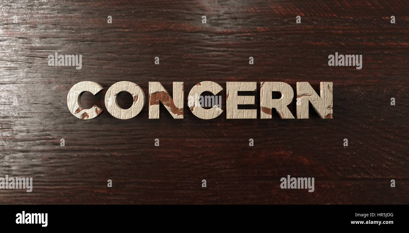 Concern - grungy wooden headline on Maple  - 3D rendered royalty free stock image. This image can be used for an - Stock Image