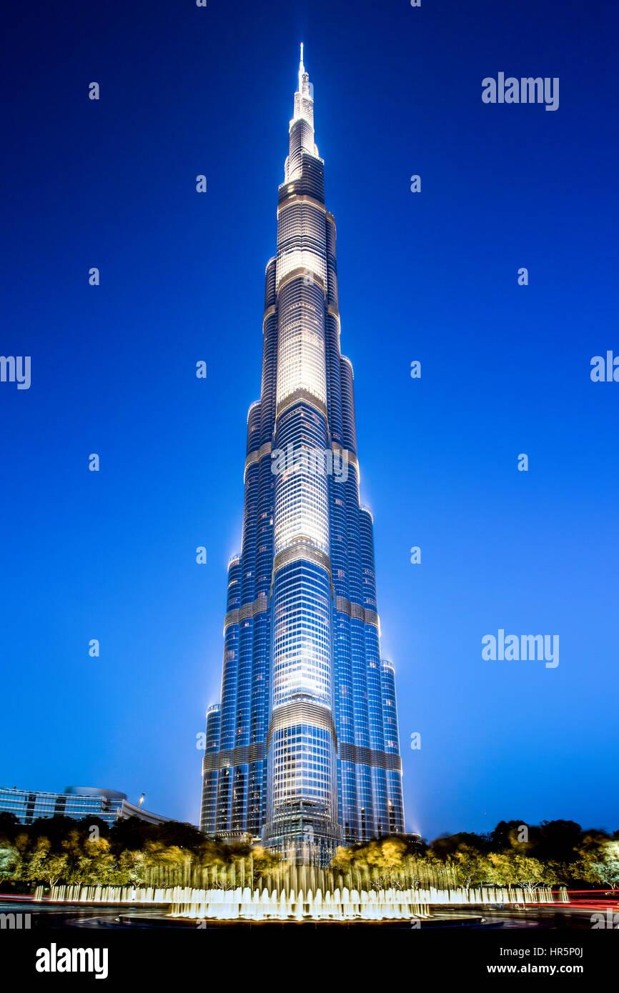 Abu Dhabi, United Arab Emirates - April 13, 2015: Burj Khalifa in Dubai, UAE. - Stock Image