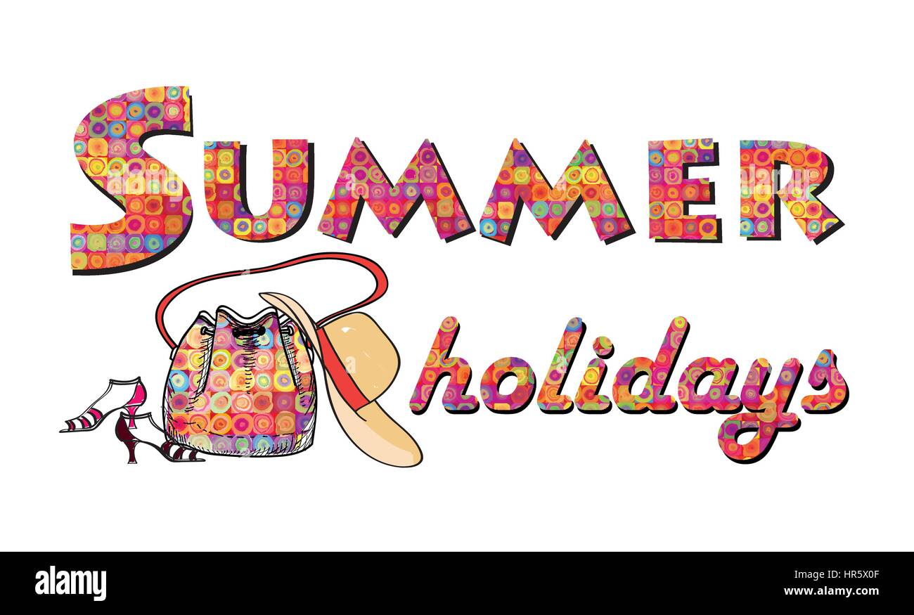 Hello Summer Background. Summer Holidays Cover With Sun And Ray Beams. Hello  Summer Greeting Card.