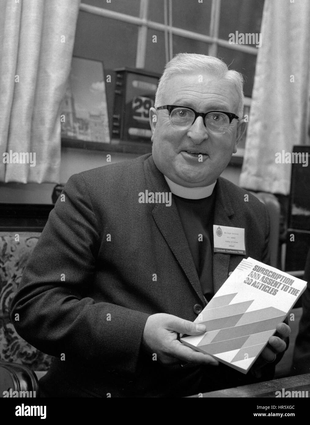 The Right Reverend Dr Ian Ramsey, Bishop of Durham and chairman of the Archbishops' Commission on Christian - Stock Image