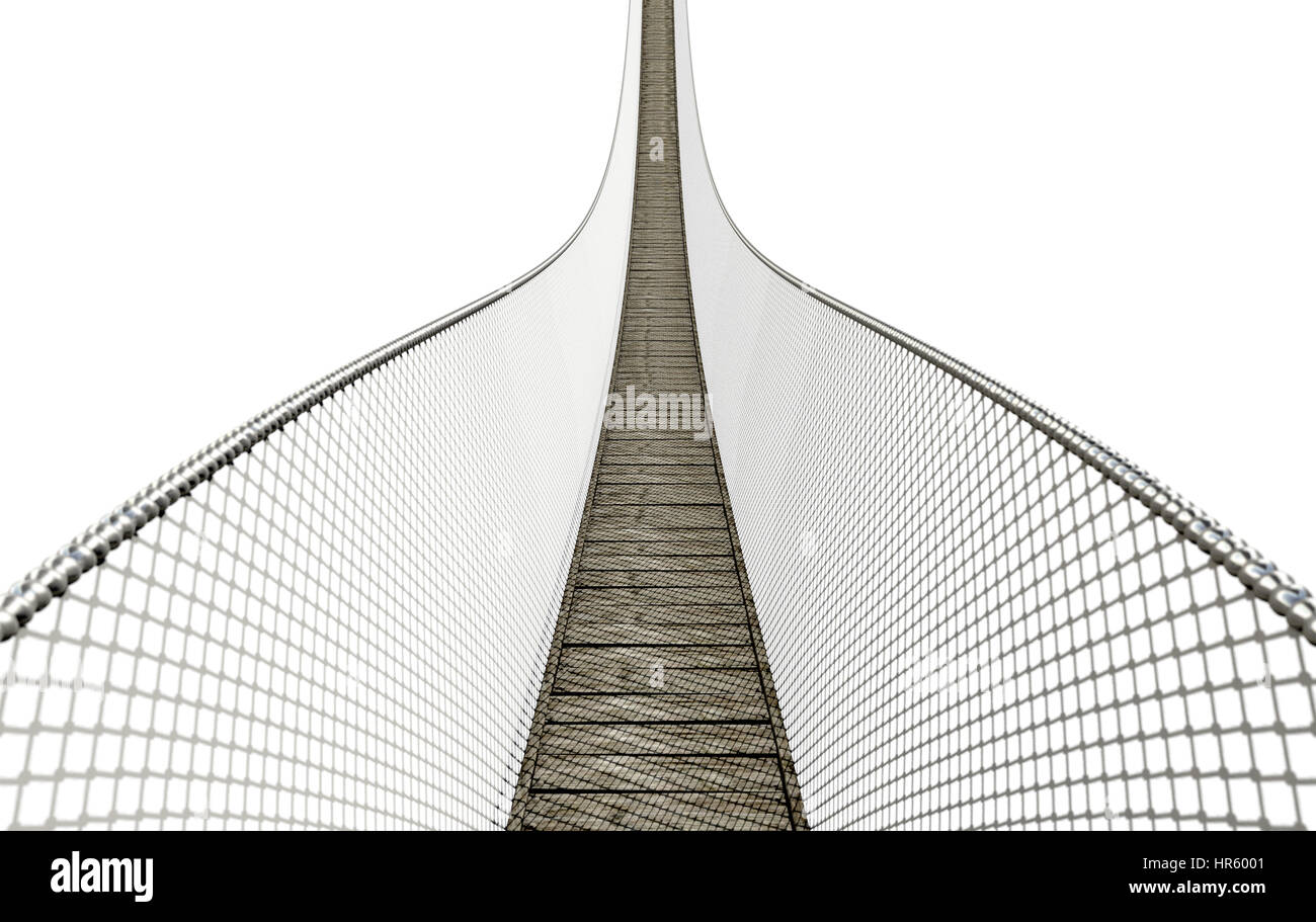 Rope Bridge Made Wooden Planks Stock Photos & Rope Bridge Made ...
