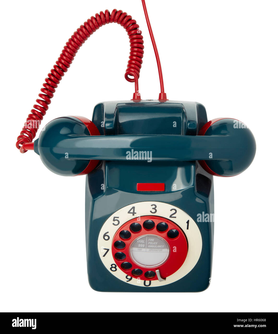 GPO standard dial telephone looking down - Stock Image