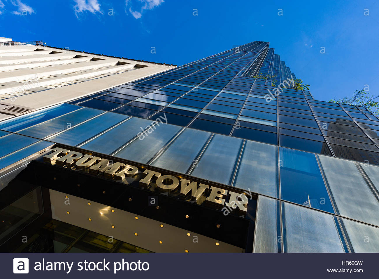 Trump Tower on Fifth Avenue, New York City, USA - Stock Image
