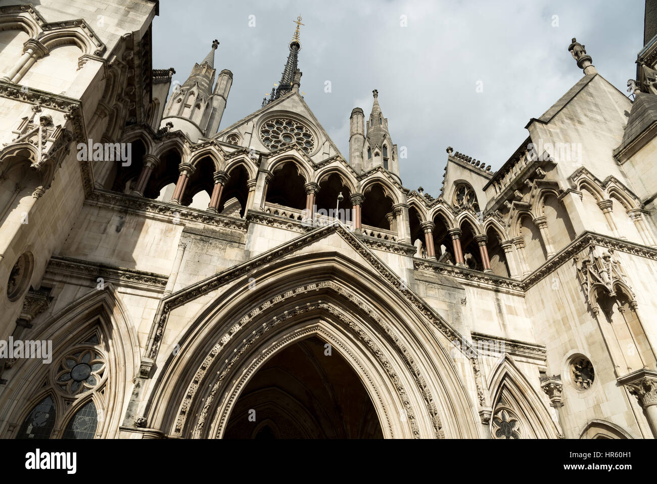 High Court of Justice, London, England, UK - Stock Image