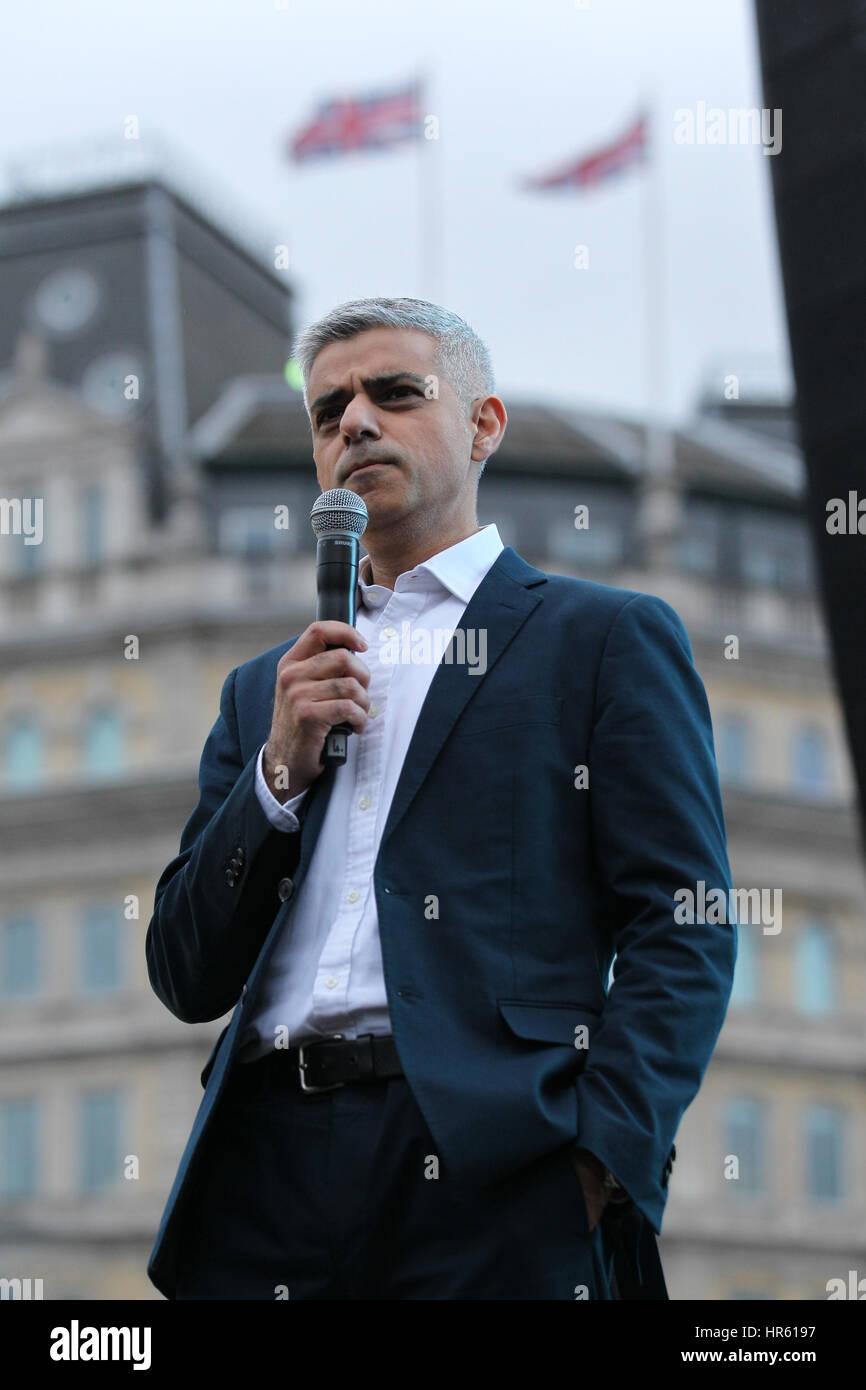 London, UK, 26, 02, 2017: The Mayor of London Sadiq Khan attends a free screening of Oscar- nominated Iranian film - Stock Image