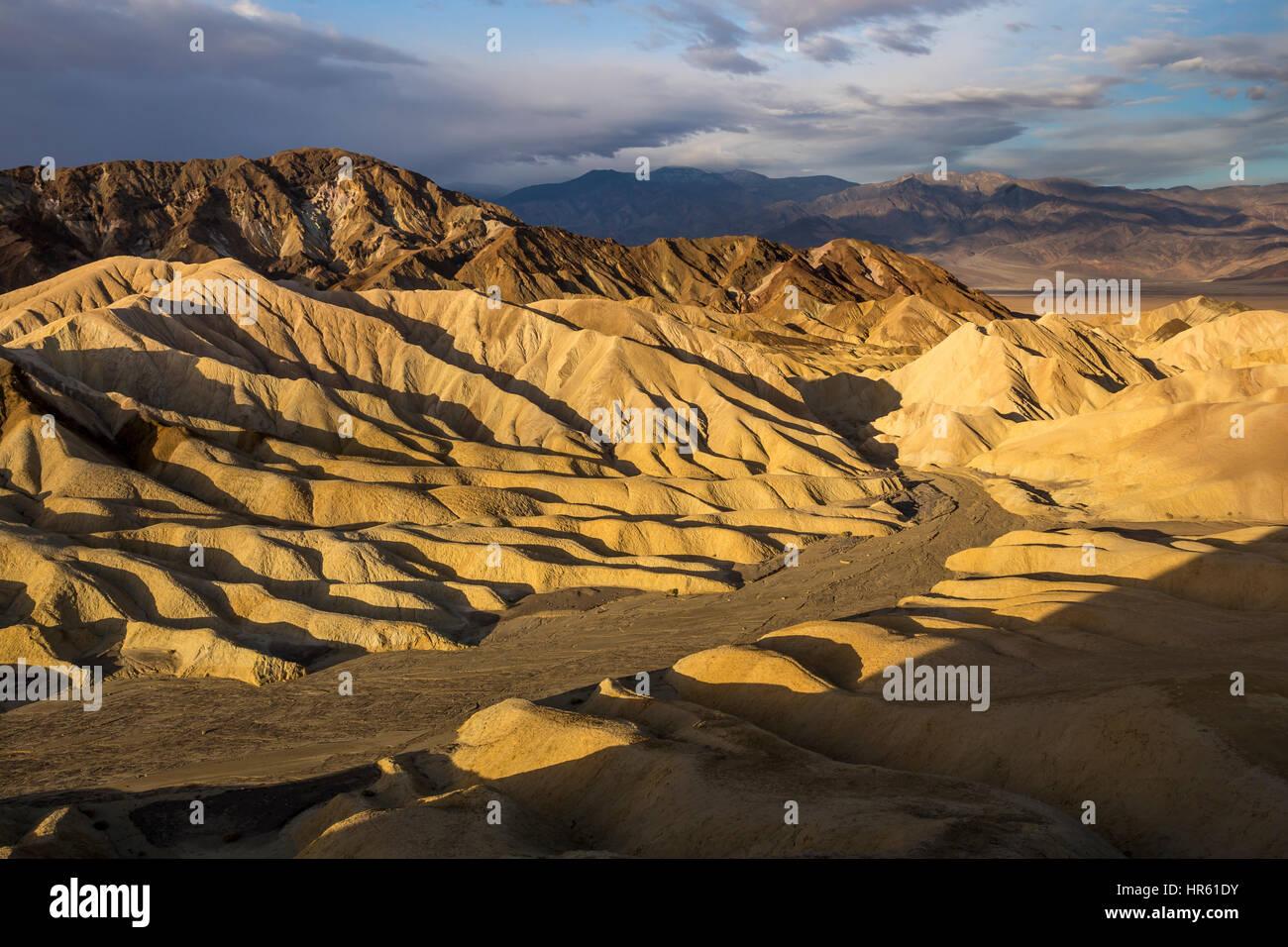 Zabriskie viewpoint, Zabriskie Point, Death Valley National Park, Death Valley, California, United States, North - Stock Image