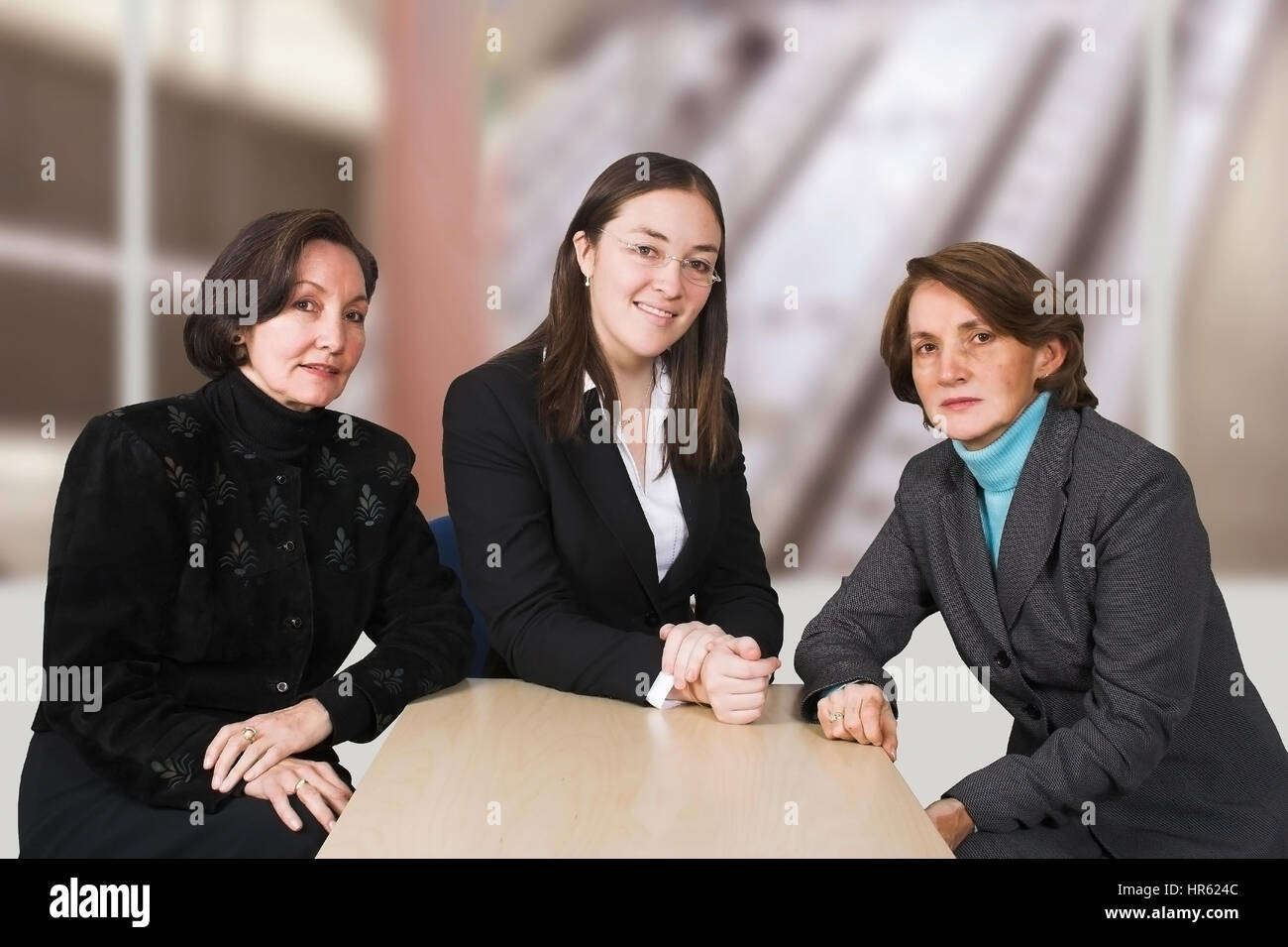 Business female management team in a corporate environment 2 - Stock Image