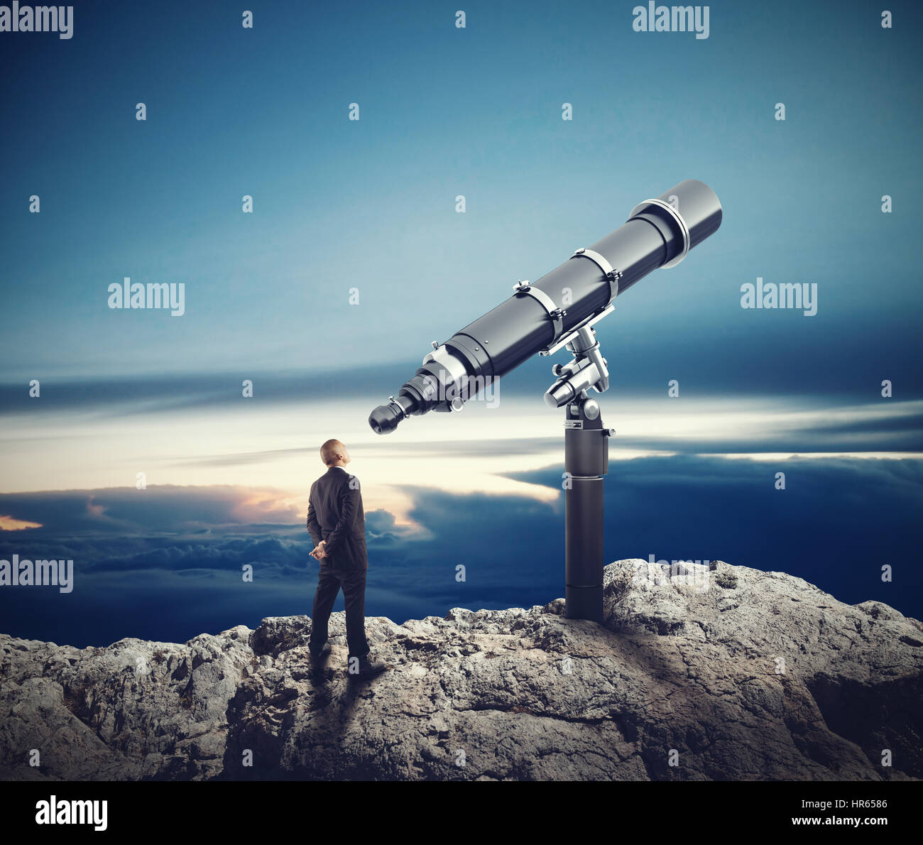 Looking to the future. 3D Rendering - Stock Image