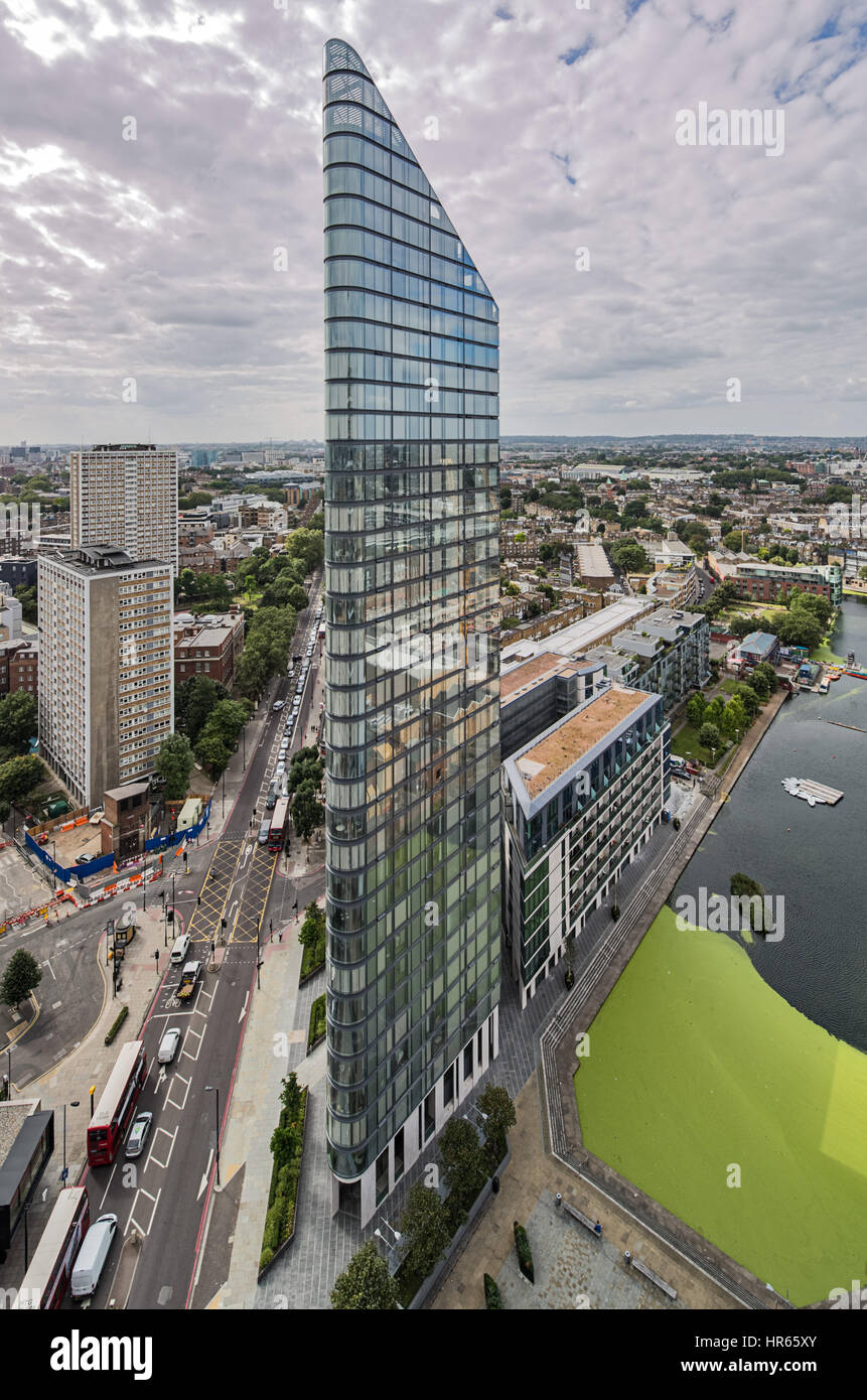 Chronicle Tower in City Road, London - Stock Image