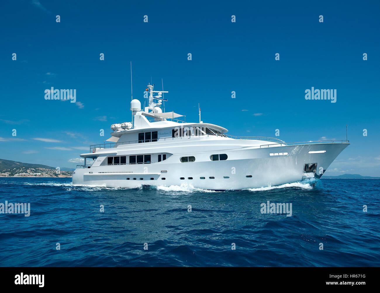 Luxury Yacht in Mediterranean - Stock Image