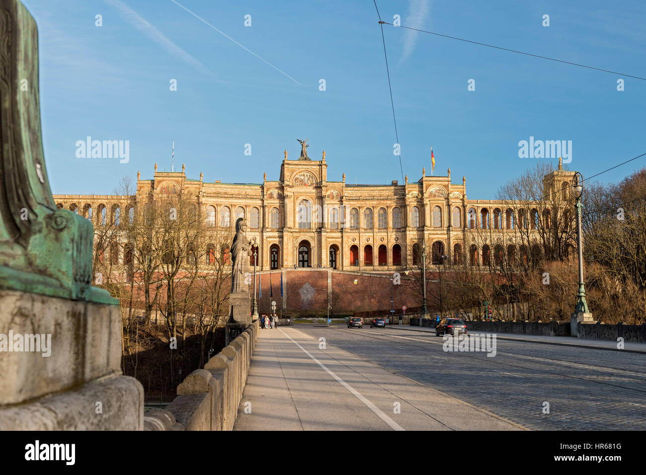 Maximilianeum, Bavarian Parliament in Munich, bavaria, germany - Stock Image