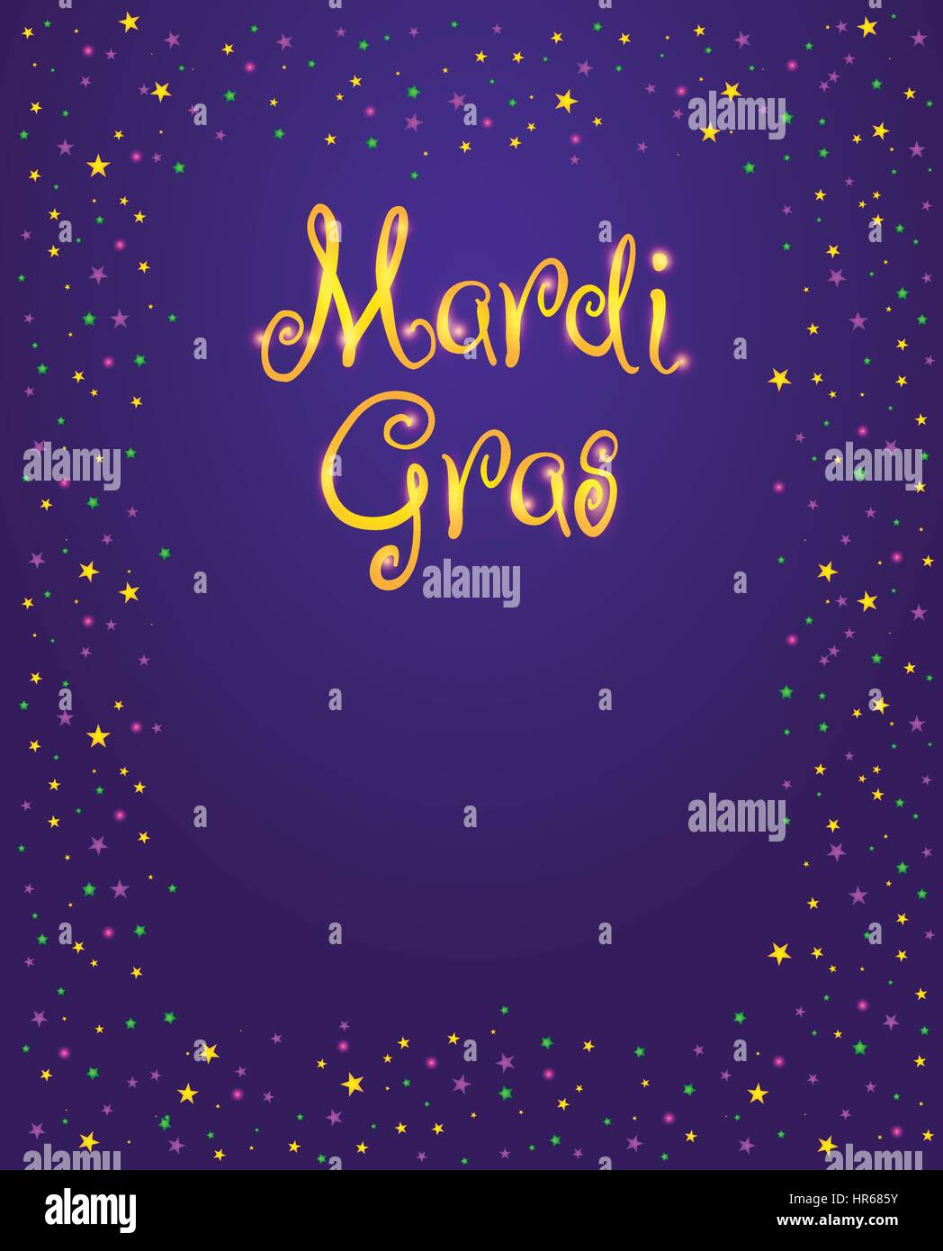 Enement Invitation Template | Mardi Gras Vector Design Element Fat Tusday Poster Or Party Stock