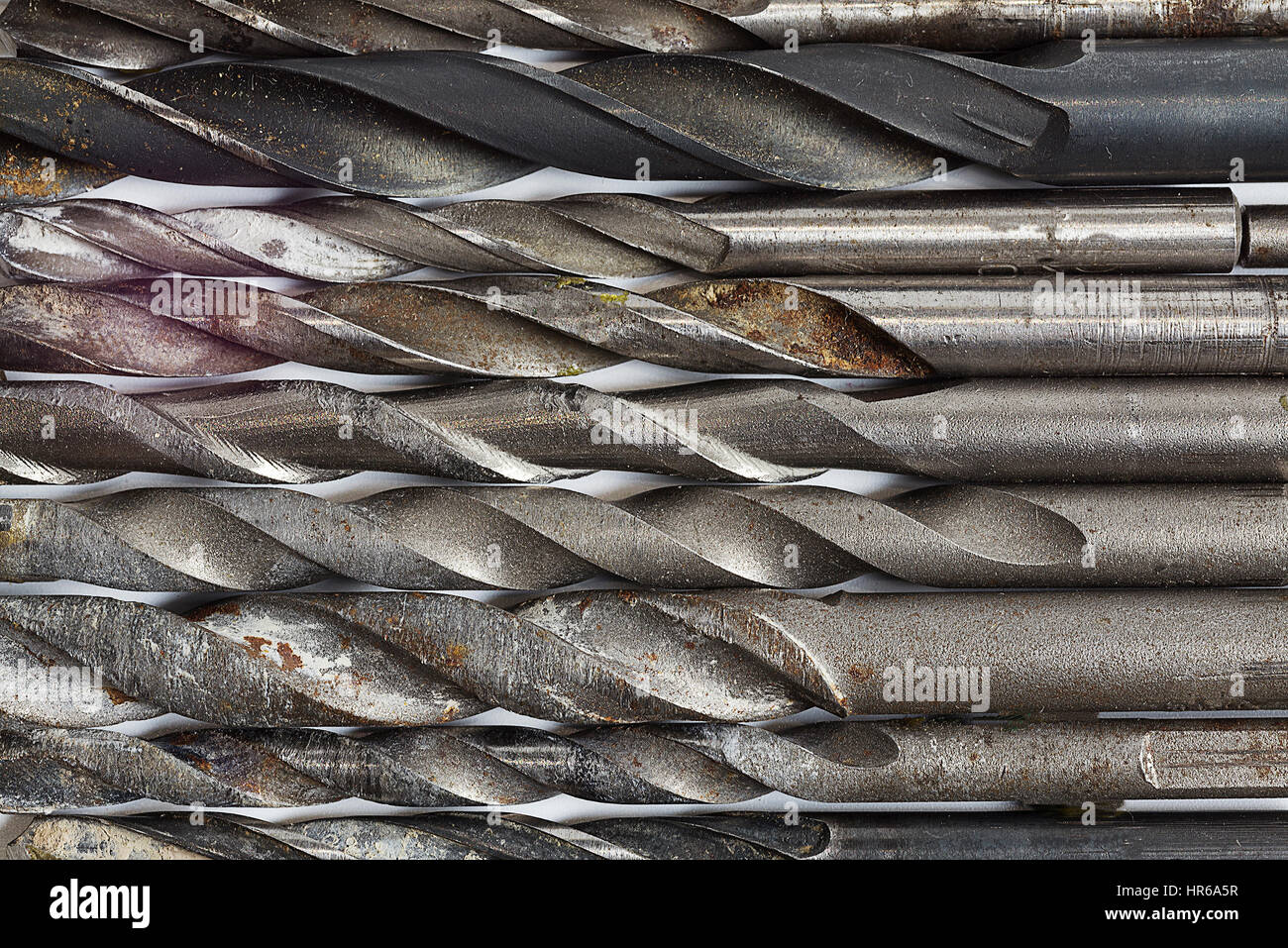 Drill bits for metal surfaces. - Stock Image