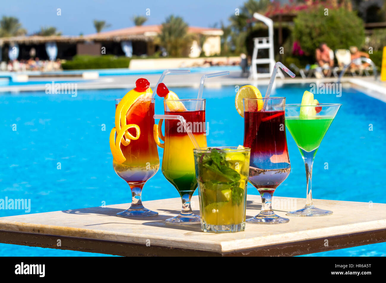 Cocktails By The Pool Stock Photos Cocktails By The Pool Stock Images Alamy