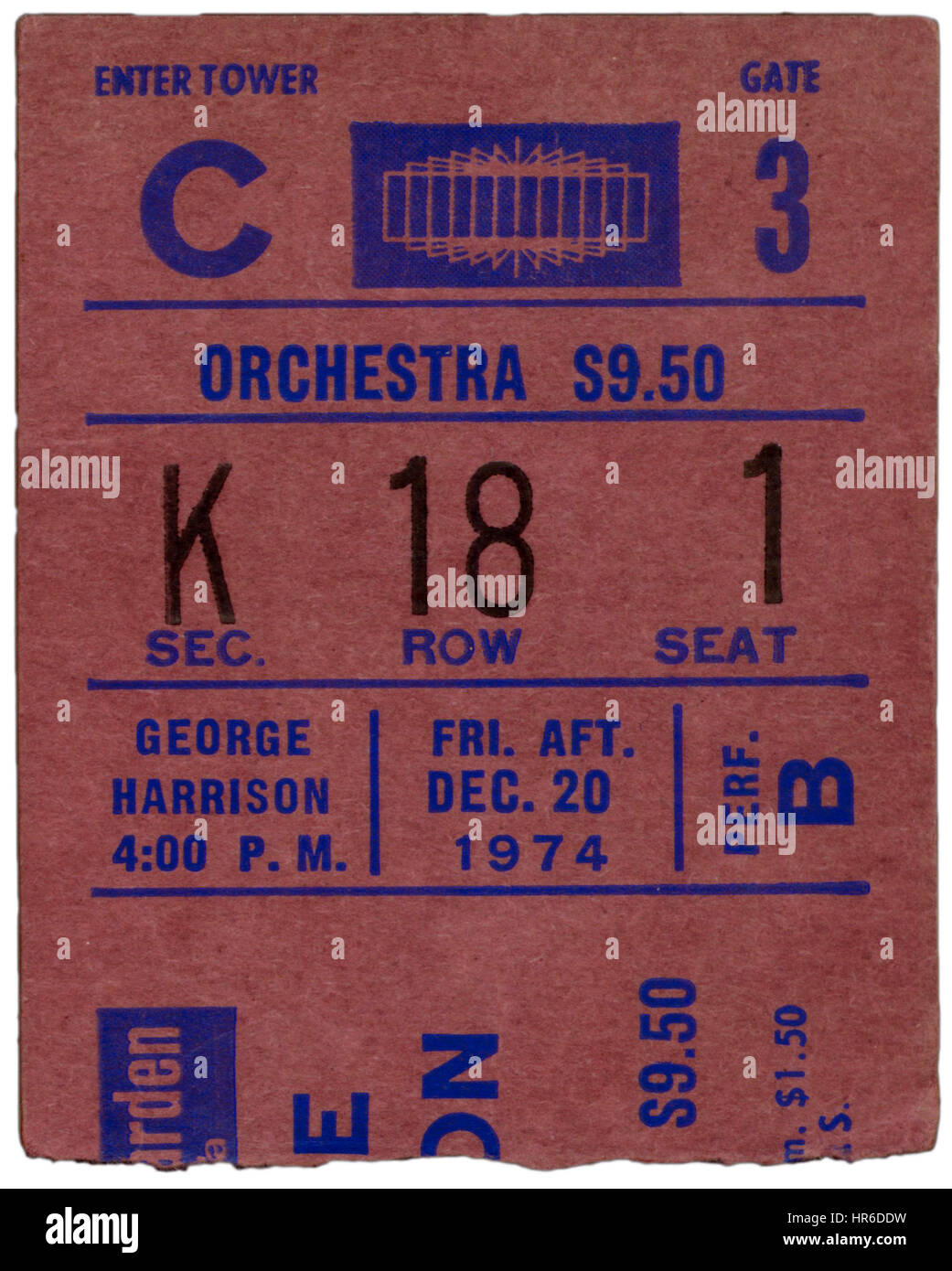 George harrison stock photos george harrison stock - Paul mccartney madison square garden tickets ...