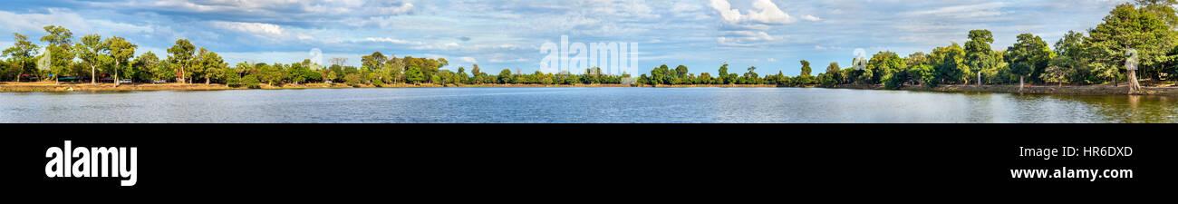 Srah Srang reservoir at Angkor, Cambodia - Stock Image