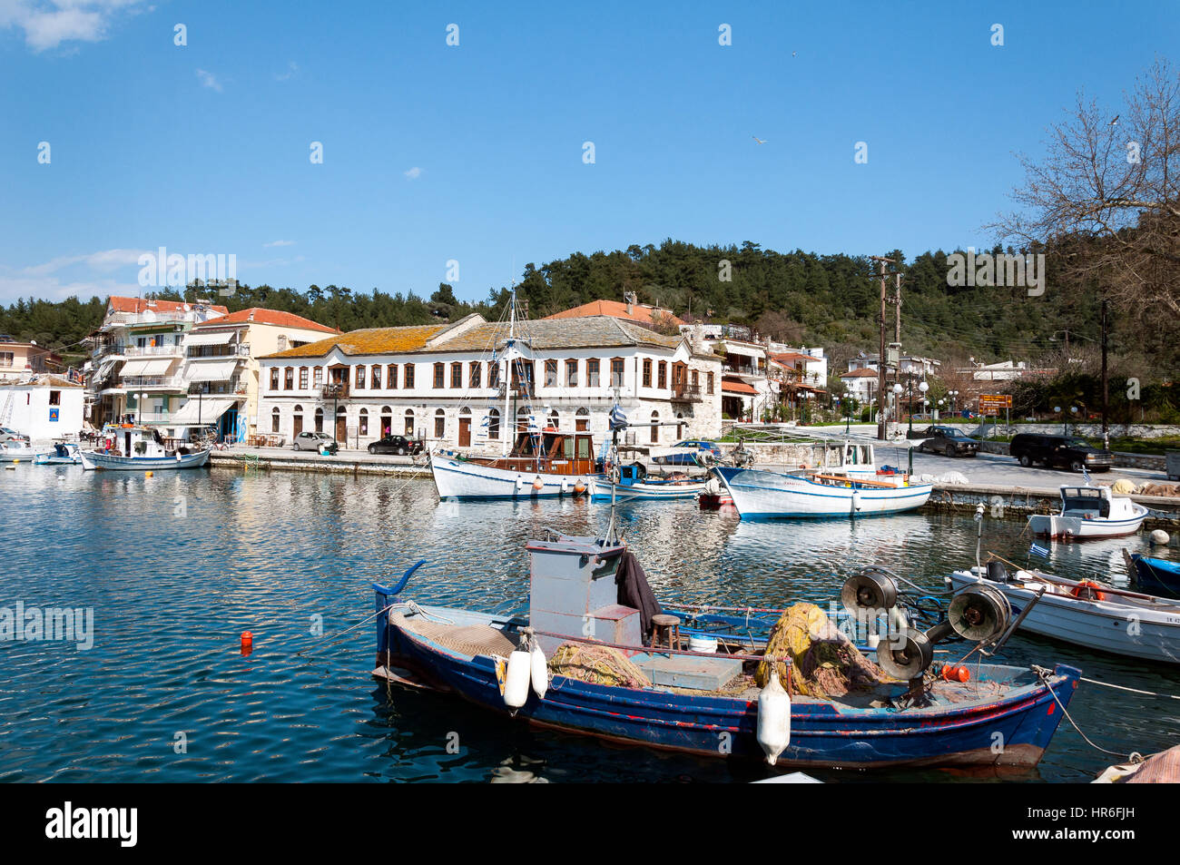 Fishing Boats At The Harbor Of Limenas Thassos Island