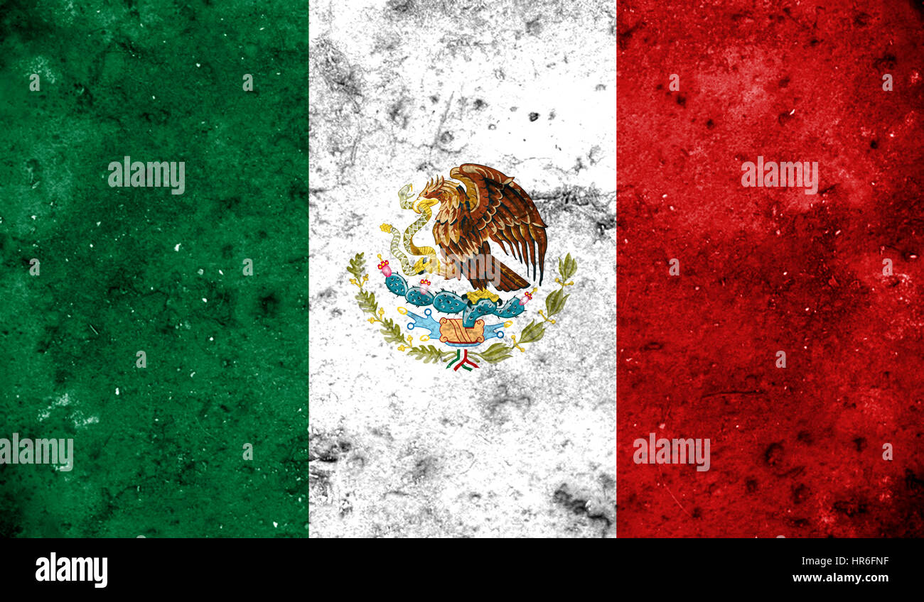 Mexico flag on old background retro effect, close up Stock Photo ...