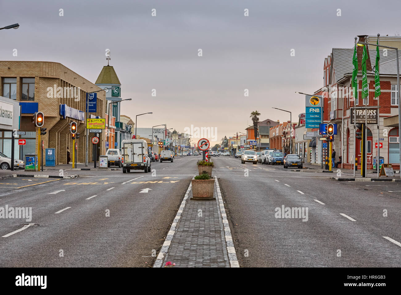Sam Nujoma Avenue, Swakopmund, Namibia, Africa - Stock Image