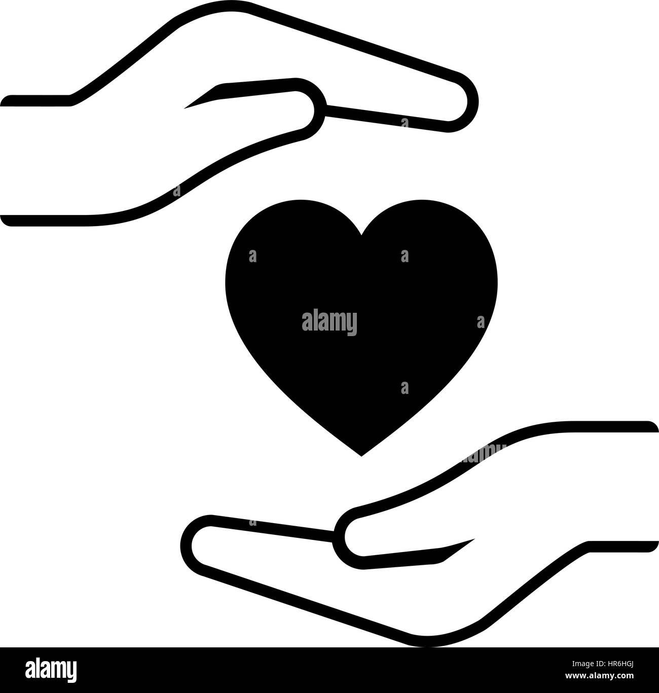 Heart Disease Prevention Icon  Flat Design Stock Vector Art