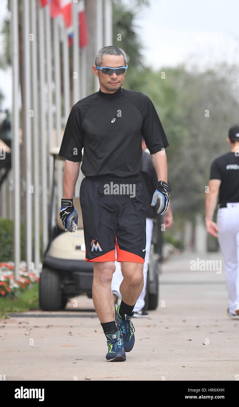 Jupiter, Florida, USA. 22nd Feb, 2017. Ichiro Suzuki (Marlins) MLB