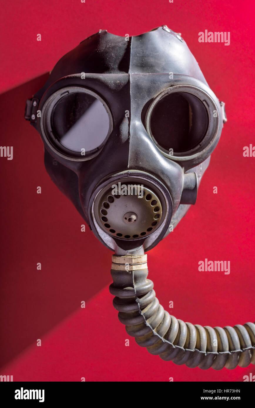 British WW2 gas mask Stock Photo