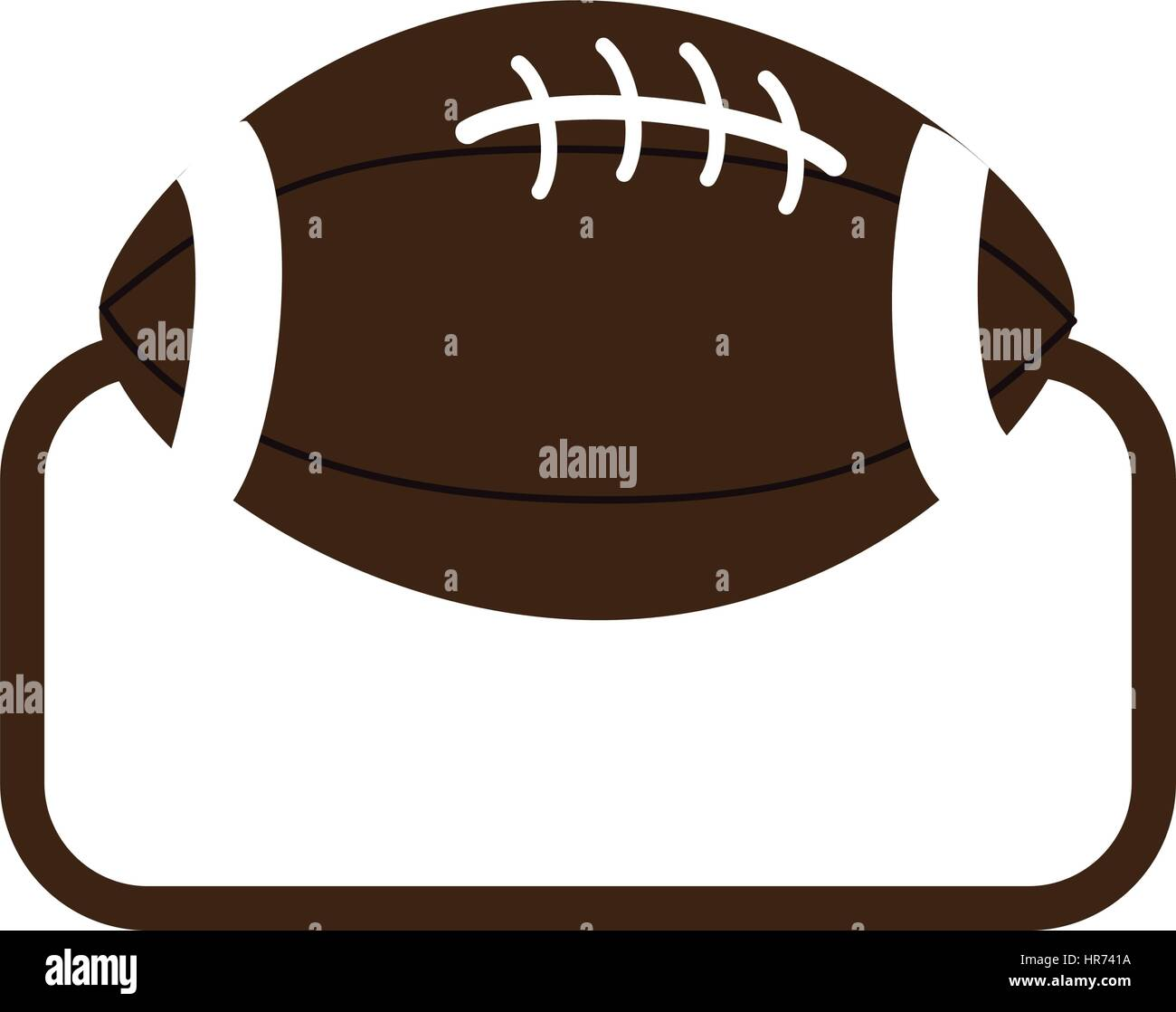 frame with football ball icon sport - Stock Vector