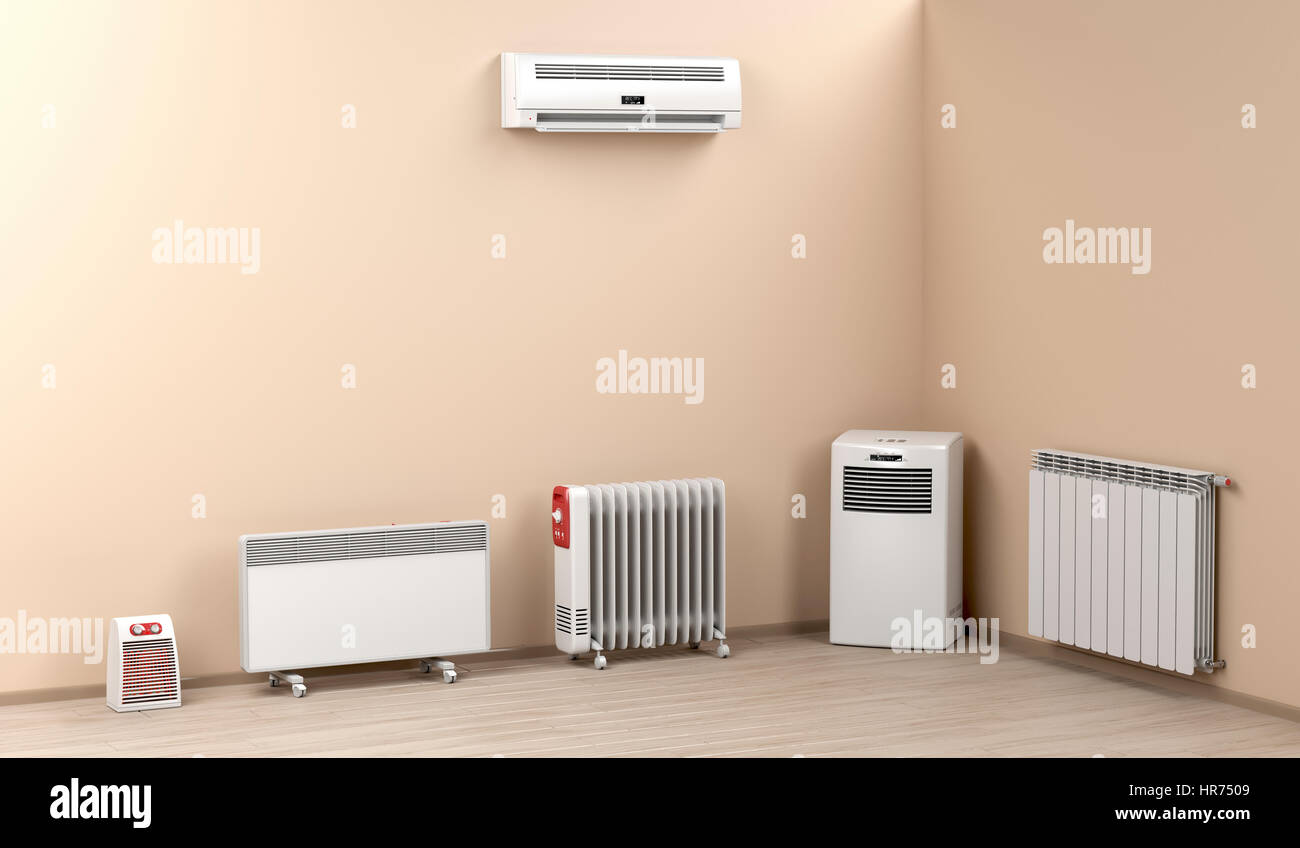 Different Types Of Domestic Electric Heaters Stock Photo Alamy