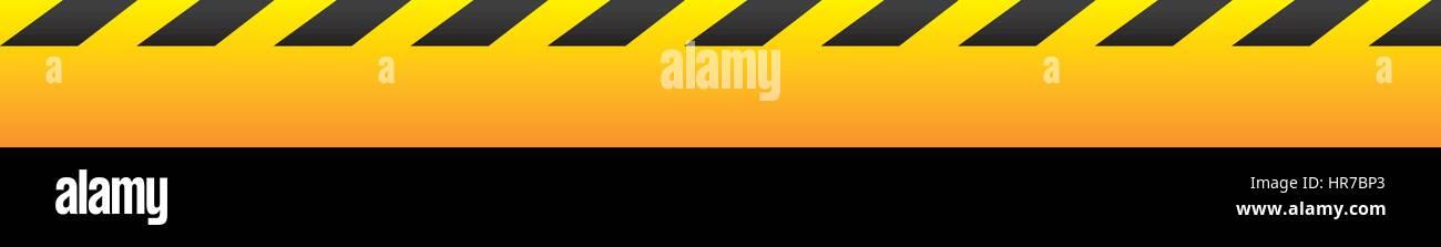 yellow warning ribbon icon - Stock Vector