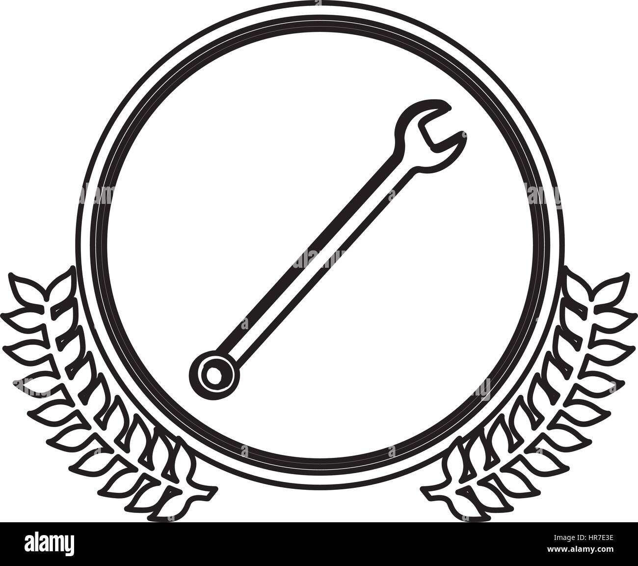 figure symbol wrench icon image - Stock Vector