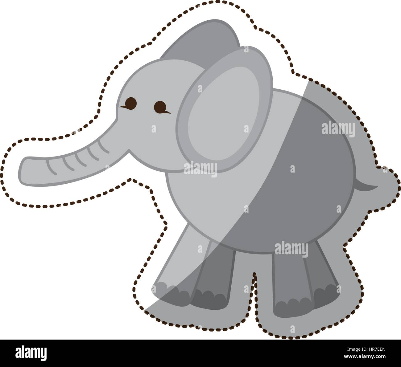 Baby Elephant Cartoon Icon Vector Stock Photos & Baby Elephant ...